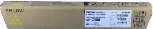 Тонер-картридж MPC406 для Ricoh желтый