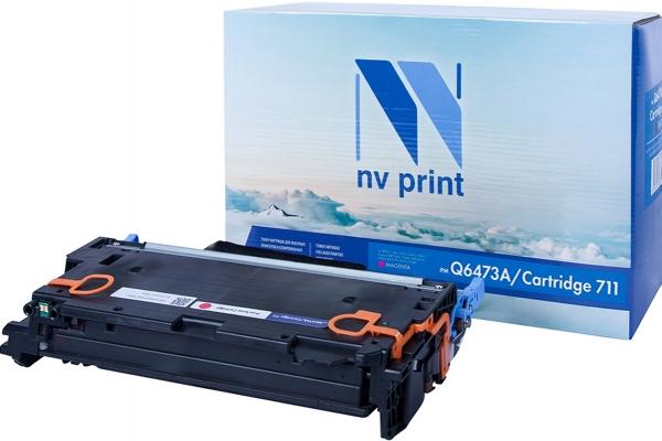 Картридж совместимый NVPrint Q6473A/Canon 711 для HP и Canon пурпурный