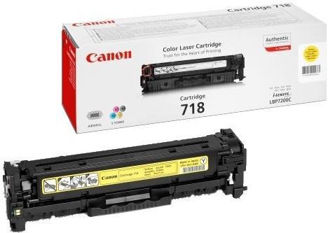 Картридж Canon Cartridge 718Y желтый совместимый UNITON Eco
