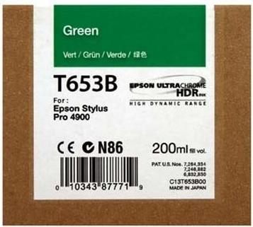 Картридж EPSON T653B (C13T653B00) зеленый оригинальный