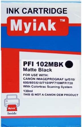 Картридж совместимый MyInk PFI-102MBk черный матовый для CANON