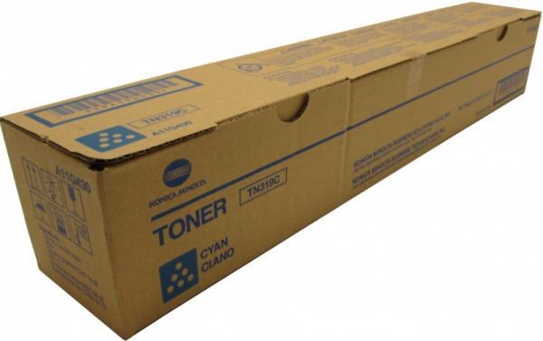 Тонер-картридж Konica Minolta TN-319C голубой оригинальный для bizhub С360