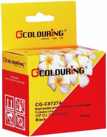 Картридж совместимый Colouring C8727A для HP черный