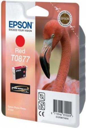 Картридж EPSON T08774010 красный оригинальный