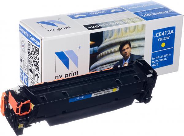 Картридж HP CE412A желтый совместимый NV Print
