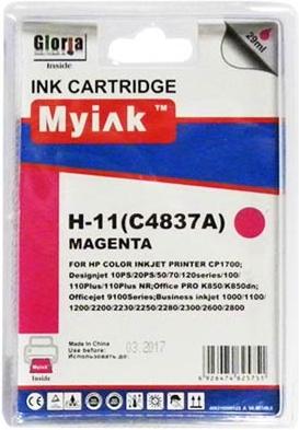 Картридж совместимый MyInk C4837A красный для HP
