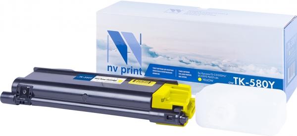 Картридж совместимый NVPrint TK-580 для Kyocera желтый