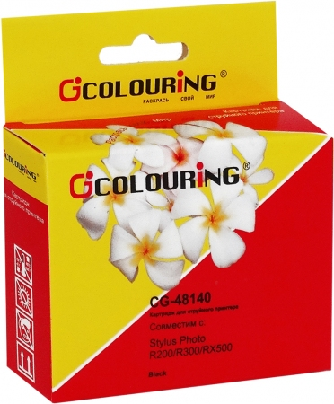 Картридж совместимый Colouring 48140 для Epson черный