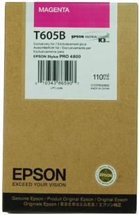 Картридж EPSON C13T605B00 пурпурный оригинальный