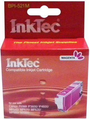 Картридж совместимый InkTec 521 М красный для Canon