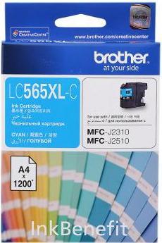 Картридж Brother LC565XLC голубой оригинальный