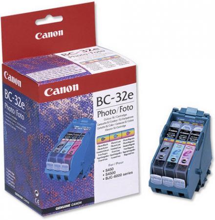 Картридж CANON BC-32e трехцветный-фото оригинальный