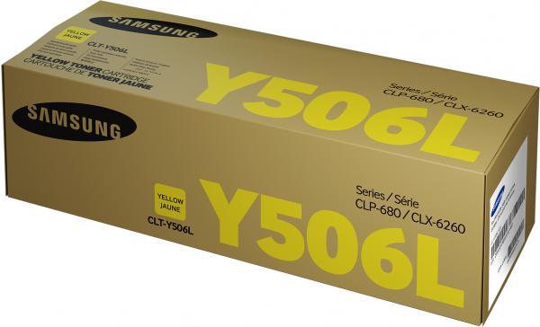 Картридж Samsung CLT-Y506L желтый оригинальный