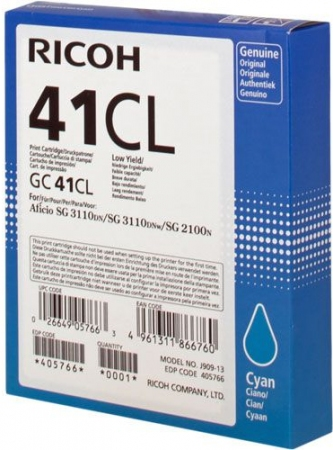 Картридж LE GC41CL для Ricoh Aficio голубой