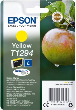 Картридж EPSON T12944012 желтый оригинальный