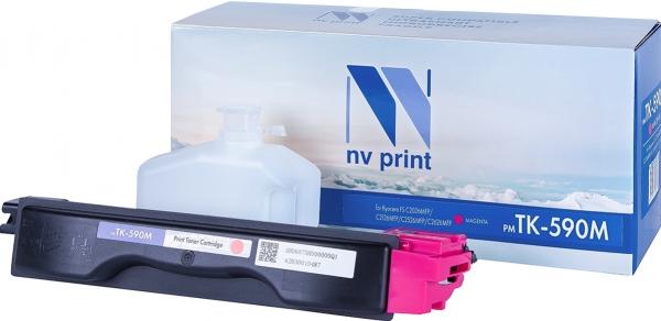 Картридж совместимый NVPrint TK-590 для Kyocera пурпурный