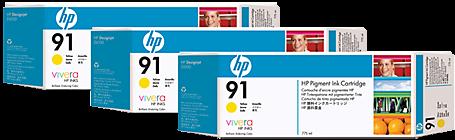 Картриджи HP C9485A желтые тройная упаковка оригинальные
