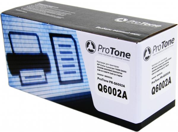 Картридж HP Q6002A желтый совместимый ProTone