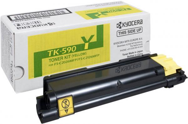 Картридж Kyocera TK-590Y желтый оригинальный