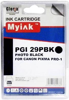 Картридж совместимый MyInk PGI-29PBK черный для Canon