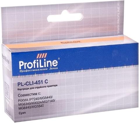 Картридж совместимый ProfiLine CLI-451C для Canon голубой