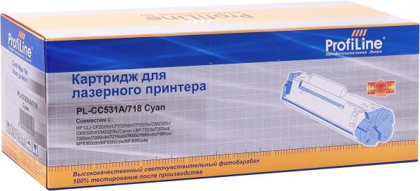 Картридж совместимый ProfiLine CC531A/718 для HP