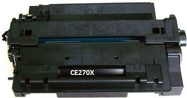 Картридж совместимый SuperFine CE270X черный для HP