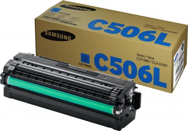 Картридж Samsung CLT-C506L голубой оригинальный