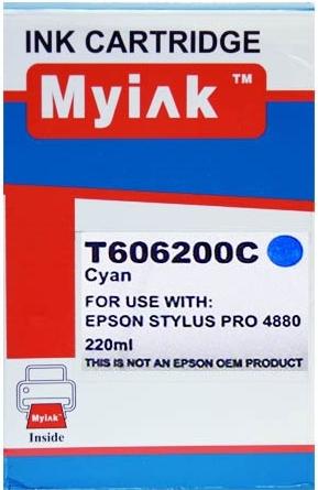 Картридж совместимый MyInk T6062 синий для Epson