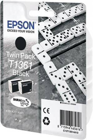 Набор из 2-х картриджей EPSON T1361 оригинальный