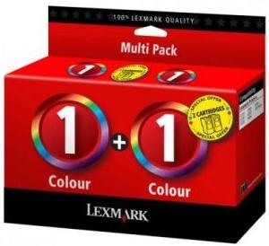 Картридж Lexmark цветной №1 двойная упаковка оригинальный