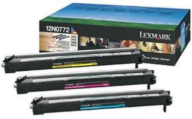 Набор цветных фотобарабанов LEXMARK 12N0772 оригинальный для C910/912