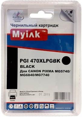 Картридж совместимый MyInk PGI-470XLPGBK черный для Canon