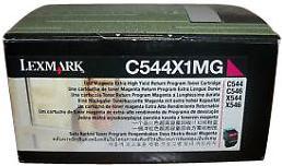Картридж Lexmark C544X1MG пурпурный оригинал