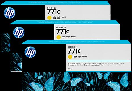 Картридж HP B6Y34A желтый оригинальный тройная упаковка