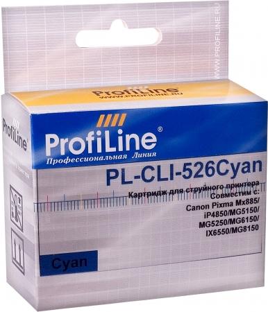 Картридж совместимый ProfiLine CLI-526C для Canon голубой с чипом