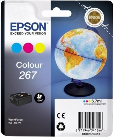 Картридж EPSON T267 (C13T26704010) трехцветный оригинальный