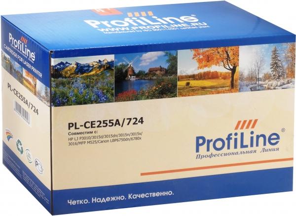 Картридж совместимый ProfiLine CE255A/724 для HP