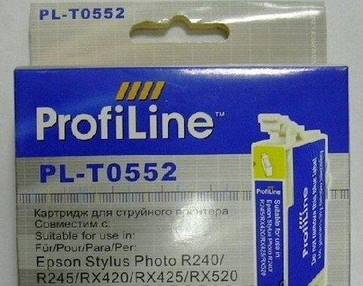 Картридж совместимый ProfiLine T0552 голубой для Epson