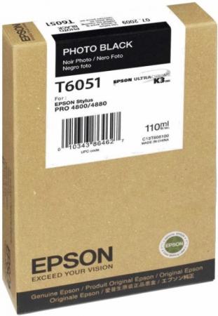 Картридж EPSON T6051 черный оригинальный
