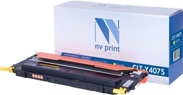 Картридж совместимый NVPrint CLT-Y407S для Samsung желтый