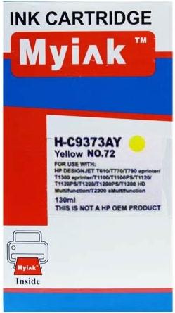 Картридж совместимый MyInk C9373A желтый для HP