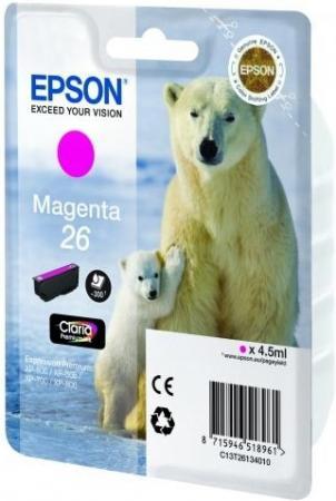 Картридж EPSON T26134010 пурпурный оригинальный