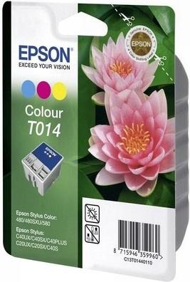 Картридж EPSON T014 трехцветный оригинальный