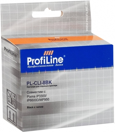 Картридж совместимый ProfiLine CLI-8BK для Canon с чипом