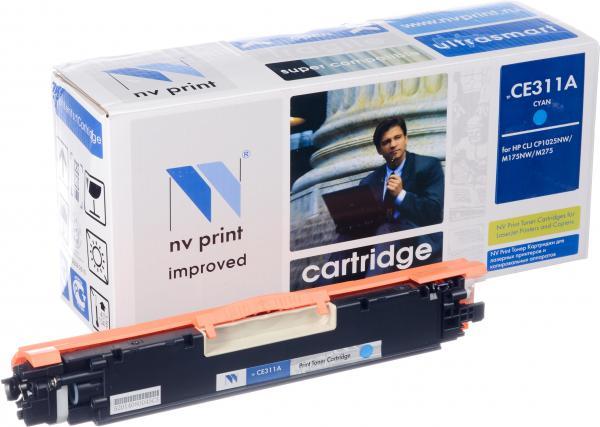 Картридж совместимый NV Print CE311A голубой для HP