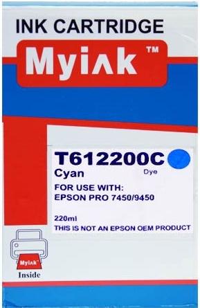 Картридж совместимый MyInk T6122 синий для Epson