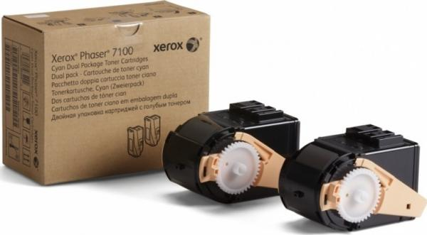 Тонер-картридж XEROX 106R02609 голубой оригинальный
