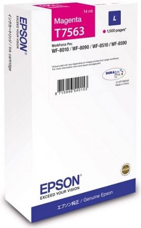 Картридж Epson T7563 (C13T756340) пурпурный оригинальный