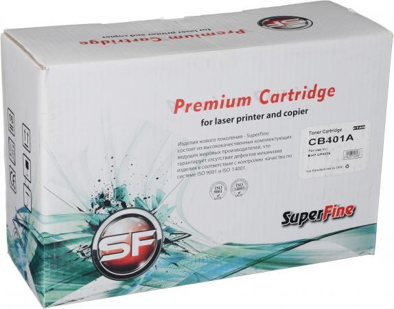 Картридж совместимый SuperFine CB401A голубой для HP